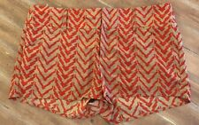 "THML Shorts Chevron Design Red & Tan ~Size Medium ~ 32"" Waist"