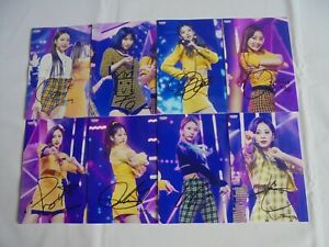 Twice 8 photographs All Members without Jeongyeon autograph hand signed