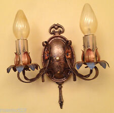 Vintage Lighting eight matching 1920s sconces by Moe Bridges