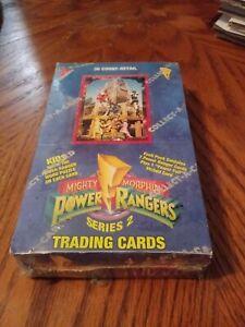 1994 MIGHTY MORPHIN POWER RANGERS CARDS SEALED BOX JUMBO PACKS SERIES 2