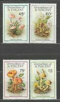 San Vincent-Grenadines - Mail Yvert 467/70 MNH Mushrooms