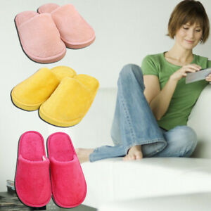 Warm Cotton Shoes Plush Indoor Flat Slippers Round Casual Soft Home Shoes au