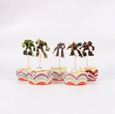 12 x TRANSFORMERS Cupcake Pick Toppers