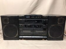 Sony CFD-460 AM/FM CD Dual Cassette Stereo Eq & Detachable Speakers BOOMBOX