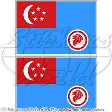 SINGAPORE Aeronautica Militare RSAF '90-Presente Bandiera Adesivi 100mm Stickers