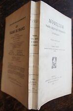 DURET:  MOBILIER, VASES, OBJETS VETEMENTS LITHURGIQUES. ETUDE HISTORIQUE, 1932