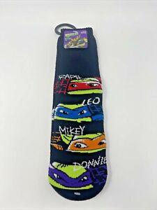 New Nickelodeon Teenage Mutant Ninja Turtles Slipper Socks with Grippers Sz M/L