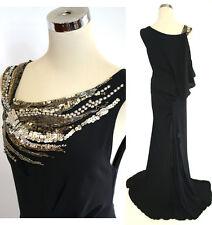 NWT BCBGMAXAZRIA RUNWAY $568 Black Evening Gown XS
