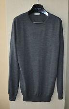 Authentic New Men's Saint Laurent Paris Gray Wool Sweater, size XL