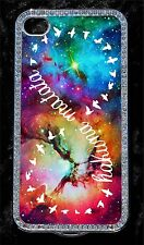 Nebula Galaxy Space Hakuna Matata infinity Bling Case cover Fits iPhone 4 4S