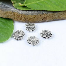 60pcs Tibetan silver spiral Disc Spacer Beads h1054