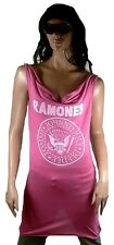 AMPLIFIED Offi RAMONES Hey Ho Let's Go Logo Rock Star Dress Pink M 38/40