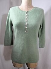 L.L. BEAN 100% Cashmere Henley Styled Sweater Size S Reg