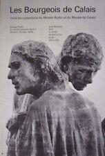 """""""Les Bourgeois de Calais"""" Vintage August Rodin Museum Exhibition Poster 1978"""