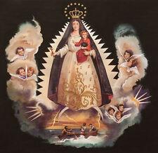 Fabric Henry VIRGIN DE LA CARIDAD CUBA CUBAN VIRGIN MARY OUR LADY Madonna black