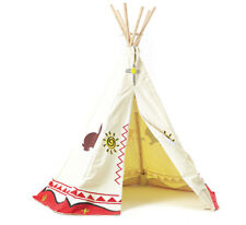 Garden Games Childrens Wigwam Teepee Play Tent - Traditional Wild West and Indians Tipi
