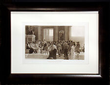 "Antique Engraving ""Pindar at the Olympian Games"" 1880s Photogravure Art, OBO"