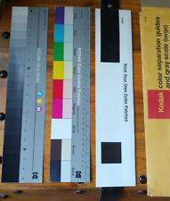 "Kodak color separation guides and gray scale (large 14"") Q-14 vintage"