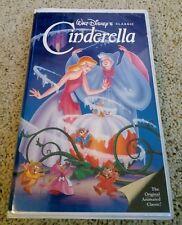 "Walt Disney's Cinderella Black Diamond Classic VHS, 1988"" RARE 410"" *Free Ship*"