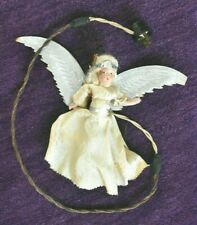 Antique Composition Angel Doll Electrified Lighted Vintage Christmas Tree Topper