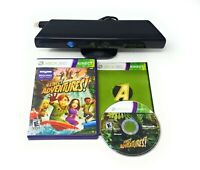 Microsoft Xbox 360 Kinect Sensor + Kinect Adventures Game Authentic Genuine OEM