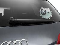 Yin Yang Dragon Car Sticker Window Styling Decal, Chrome