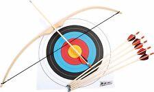 Schießspiel Sportbogen Set 34 Zoll Holz Bogenschützen Bogenschießen Zielscheibe