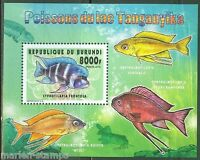 BURUNDI 2014 FISH OF LAKE TANGANYIKA II  SOUVENIR SHEET   MINT NH