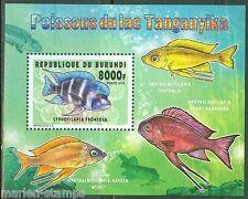 BURUNDI 2014 FISH OF LAKE TANGANYIKA II  SOUVENIR SHEET   MINT NH
