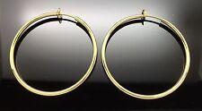 Spring Gold GF CLIP ON FAKE PIERCING Large Hoop Rings Earrings 4cm