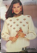 Patons Ladies jumpers Knitting pattern book No.9 72L sizes 75-100 cm