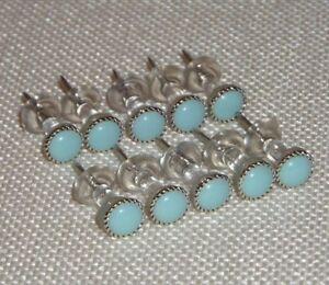 30 baby blue thumb tacks, Decorative push pin, Office School Decor, Memory Board