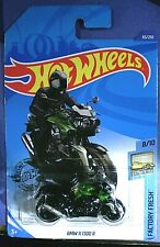 Hot Wheels BMW K1300R Motorcycle green gray & black w silver pipes Mint