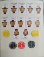 O)1960 OLYMPIC GAMES ROME - ROMULUS AND REMUS, WOLF EMBLEM STICKERS-ADHESIVES, X