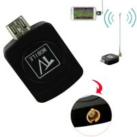 Black Micro USB DVB-T Digital Mobile TV Tuner Receiver+Antenna·For Android4.1