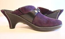 8 AA Narrow COLE HAAN suede CLOGS MULES purple EGGPLANT perfect from NORDSTROM
