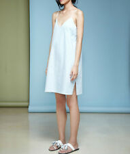 Full Slip Under Dress Cotton Strappy V Neck Petticoat Underskirt Nightie Chemise