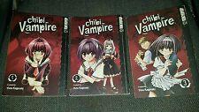 Yuna Kagesaki - Chibi Vampire - Volumes 1-3 - Tokyo Pop Graphic Novels Manga