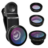 Universal Mobile Phone Camera Lens Kit Clip Macro Wide Fish eye Professional HD
