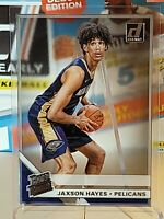 JAXSON HAYES 2019-20 PANINI DONRUSS CLEARLY RATED ROOKIE RC PELICANS