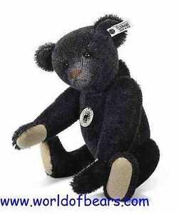 1908 Black Teddy Bear Replica Limited Edition by Steiff EAN 408564
