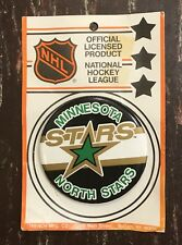 "RARE 1980's Minnesota North Stars Hockey 3""  Button With Pin Back."