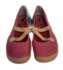 Keen Rivington II MJ CNX-SS Womens 7 Canvas Slip Shoes New Leather Cherry 2020