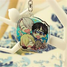 Anime YURI!!! on ICE Keychain Victor Nikiforov Yuri Katsuki Acrylic Keyrings