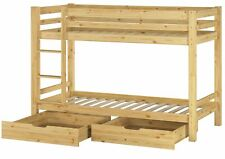 Etagenbett Stockbett Kiefer 90x200 mit 2 Rollroste u 2 Bettkaesten 60.09-09 S2