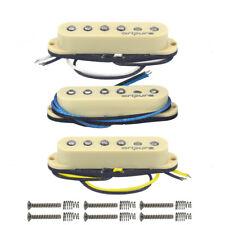 OriPure Alnico 5 Strat Guitar Pickup Set SSS Single Coil PickupsStaggered Poles