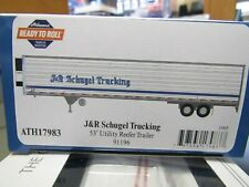 ATHEARN 17983 HO J&R SCHUGEL TRUCKING  53FT UTILITY REEFER TRAILER # 91196