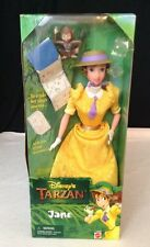 NEW Vintage Disney's Tarzan JANE Doll w/ Baboon book & Accessories Mattel 1999