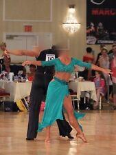 Latin/Rhythm Green Ballroom Dress - Size 2-4 - Reduced to sell
