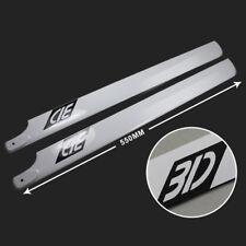 3D 550mm Carbon Fiber Main Blade for Align Trex 550 550E Helicopter